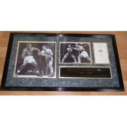 Ricky Marciano Boxing authentic signed autograph card display