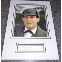 SOLD Jeremy Brett Sherlock Holmes signed genuine signature display