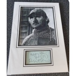 SOLD Robert Shaw Jaws James Bond signed genuine signature autograph display