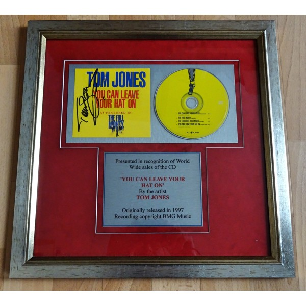Tom Jones 'You Can Leave Your Hat On' signed genuine autograph CD display