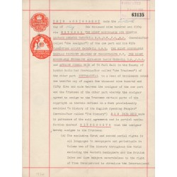 Winston Churchill signed genuine signature authentic document.