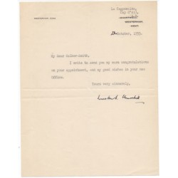 Winston Churchill signed authentic genuine signature letter