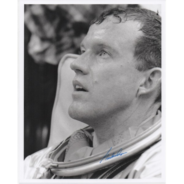 Gordon Cooper Gemini space genuine signed authentic autograph photo