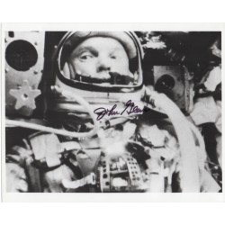 John Glenn Mercury 7 signed genuine signature photo