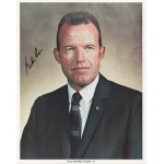 Gordon Cooper Mercury 7 signed genuine signature photo