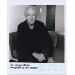 George Martin Beatles signed genuine signature autograph photo