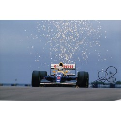 Nigel Mansell F1 Williams signed genuine signature autograph photo