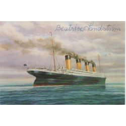 RMS Titanic Survivor Beatrice Lindstrom signed genuine signature autograph