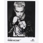 Robbie Williams signed authentic  signature autograph photo