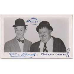 Laurel and Hardy signed authentic genuine signature photo