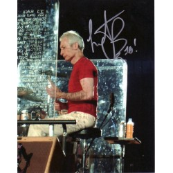 Charlie Watts Rolling Stones genuine signed authentic signature photo