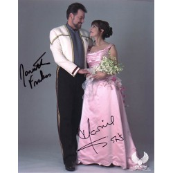 Jonathan Frakes and Marina Sirtis Star Trek Nemesis genuine signed autograph photo