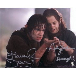 Lord of the Rings Andy Serkis and Thomas Robins genuine signed authentic autograph photo
