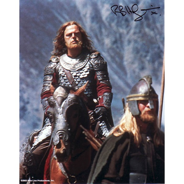Lord of the Rings Bruce Hopkins genuine signed authentic autograph photo
