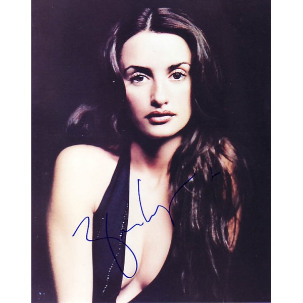 Penelope Cruz genuine signed authentic signature photo