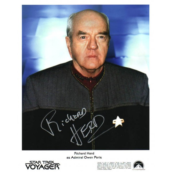 Richard Herd Star Trek Voyager genuine signed authentic signature photo