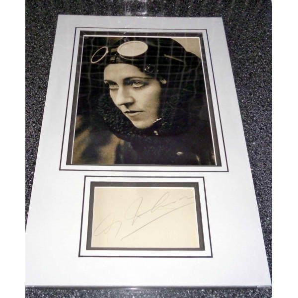 Amy Johnson signed authentic autograph photo display