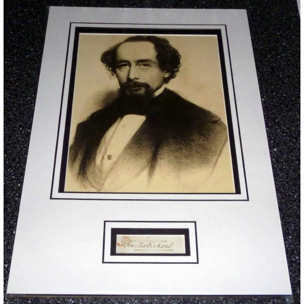 Charles Dickens genuine authentic autograph signature and photo
