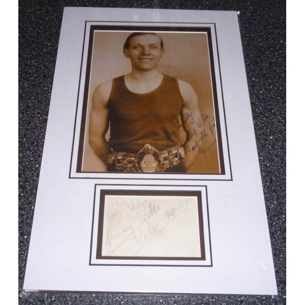 Jimmy Wilde Boxing genuine authentic autograph signature and photo
