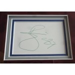 David Bowie signature authentic signed framed autograph