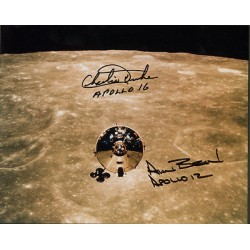 Alan Bean Apollo Charlie Duke genuine signed authentic autograph photo