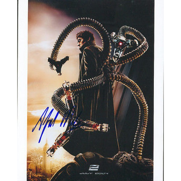 Alfred Molina Spider-Man 2 genuine signed authentic autographs photo