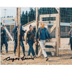 Angus Lennie authentic signed Great Escape autograph colour photo Steve McQueen