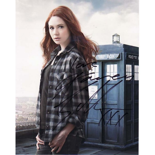 Doctor Who Karen Gillian genuine signed authentic signature photo