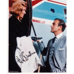 James Bond Honor Blackman Connery signed original genuine autograph authentic photo