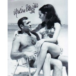 James Bond Martine Beswick Connery signed authentic autograph photo