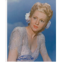 Joan Fontaine genuine signed authentic signature photo