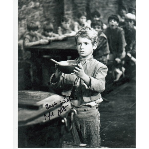 Mark Lester Oliver genuine signed authentic signature photo