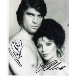 Oliver Tobias and Joan Collins The Stud authentic signed autograph photo