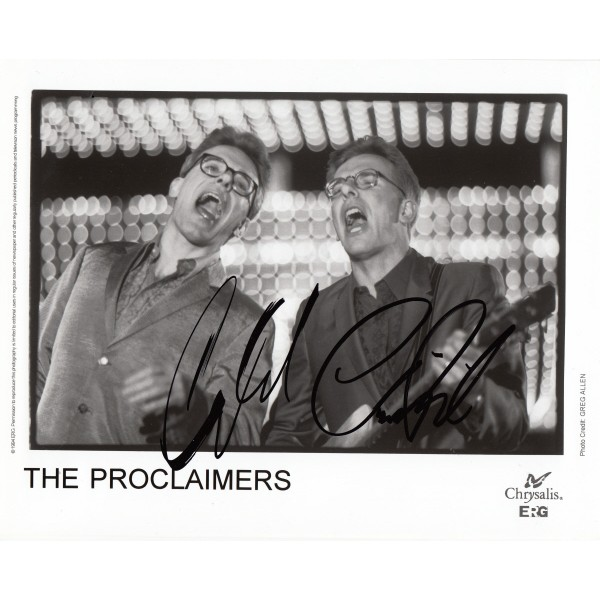 The Proclaimers music authentic signed original genuine autograph authentic photo
