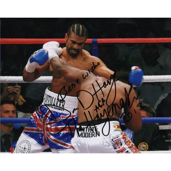 David Haye Heavyweight Boxing genuine authentic autograph signed photo