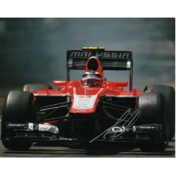 Max Chilton Marussia F1 genuine authentic autograph signed photo