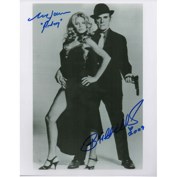 Britt Ekland Mark Lawrence James Bond signed authentic autograph photo