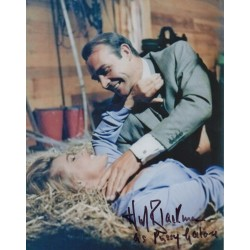 Honor Blackman James Bond signed authentic autograph photo