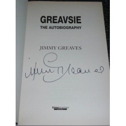 Jimmy Greaves genuine authentic signed autograph book