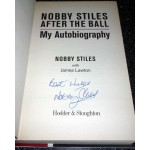 Nobby Stiles WC 1966 England genuine authentic signed autograph book
