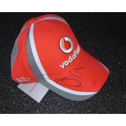 Jenson Button McLaren Vodafone F1 genuine authentic signed autograph cap