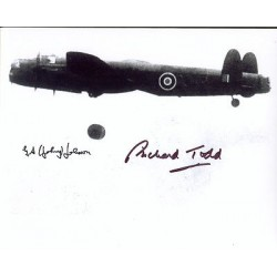 Dambuster 617 George Johnson Richard Todd genuine signed authentic autographs photo