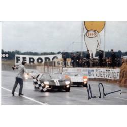 Chris Amon Ford GT40 signed authentic autograph photo