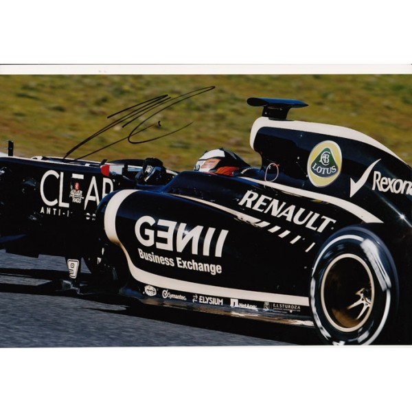 F1 Lotus Kimi Raikkonen signed original genuine autograph authentic photo
