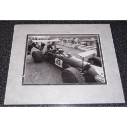 Jack Brabham  F1 signed authentic autograph mounted image 3