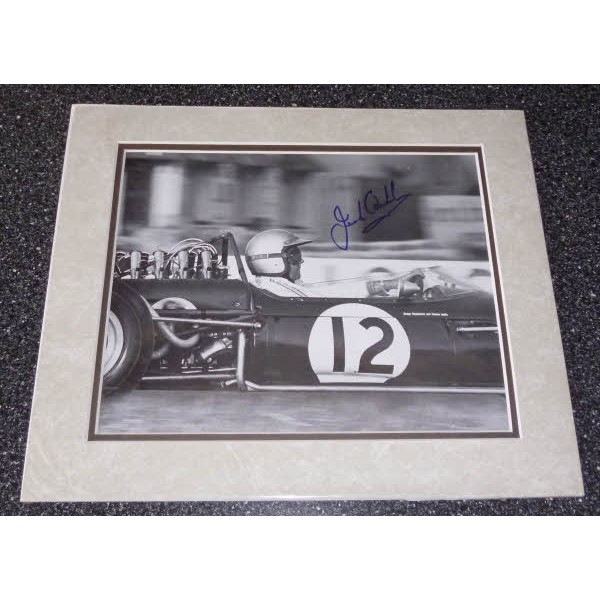 Jack Brabham  F1 signed authentic autograph mounted image