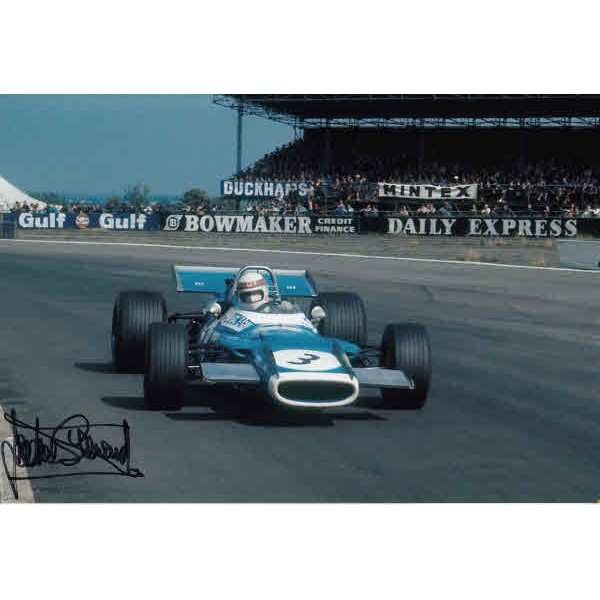 Jackie Stewart F1 Tyrrell genuine authentic autograph signed photo 2.