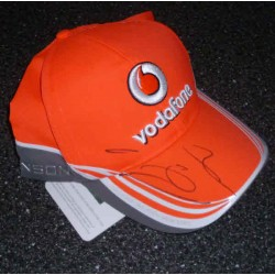 Jenson Button F1 McLaren genuine authentic autograph signed cap.