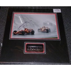 Kimi Raikkonen Ferrari F1 signed original genuine authentic photo