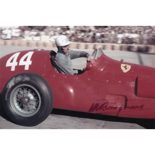 Maurice Trintignant Ferrari signed authentic autograph photo
